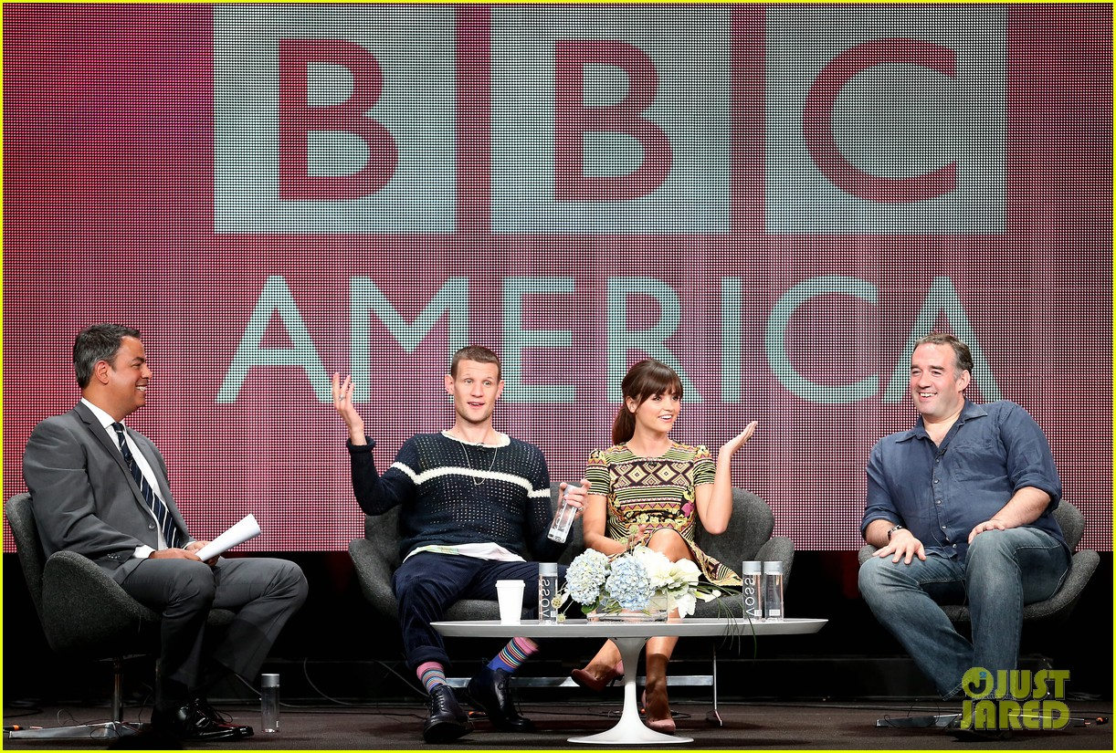 matt smith jenna louise coleman dr who tca panel 09