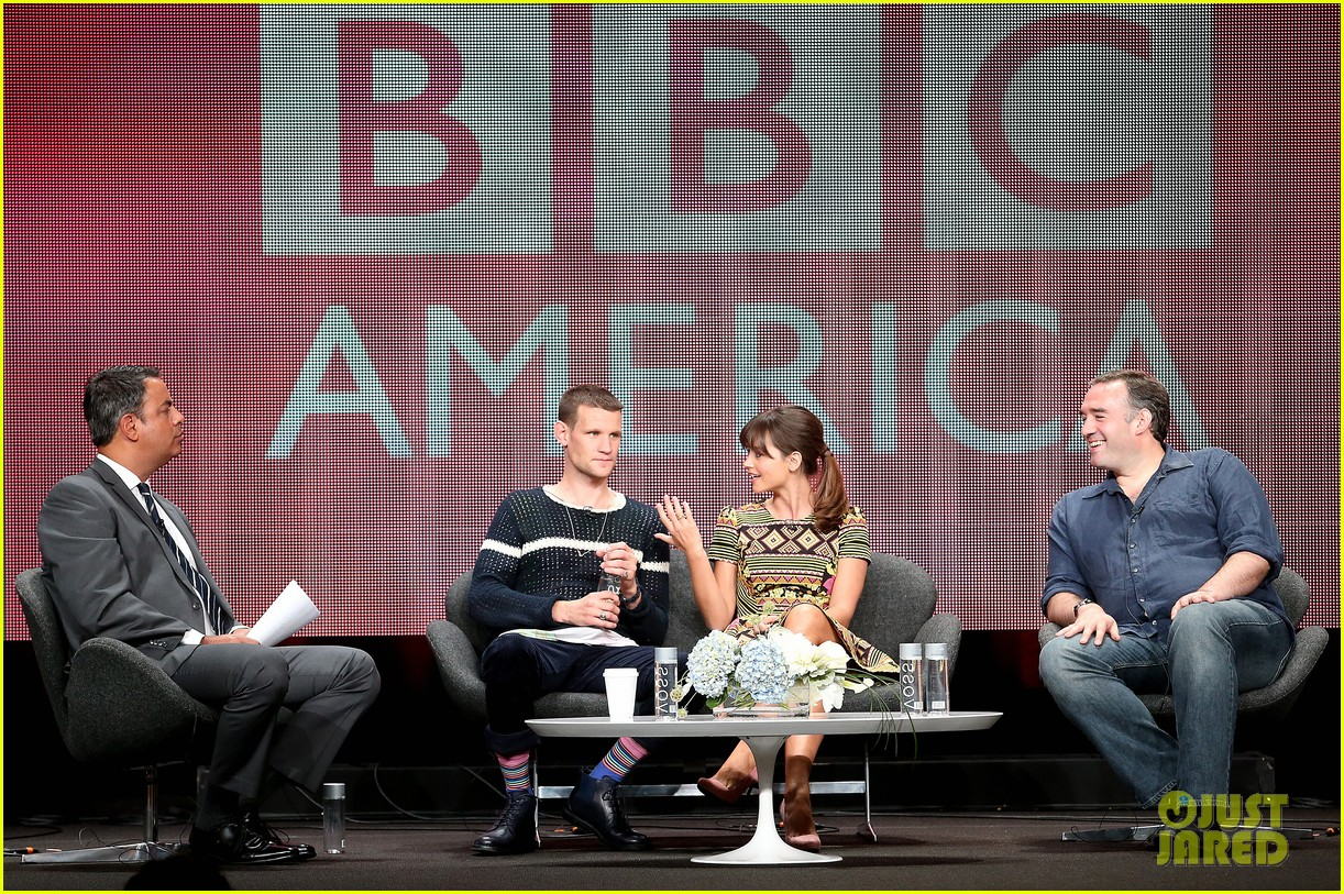 matt smith jenna louise coleman dr who tca panel 102916723