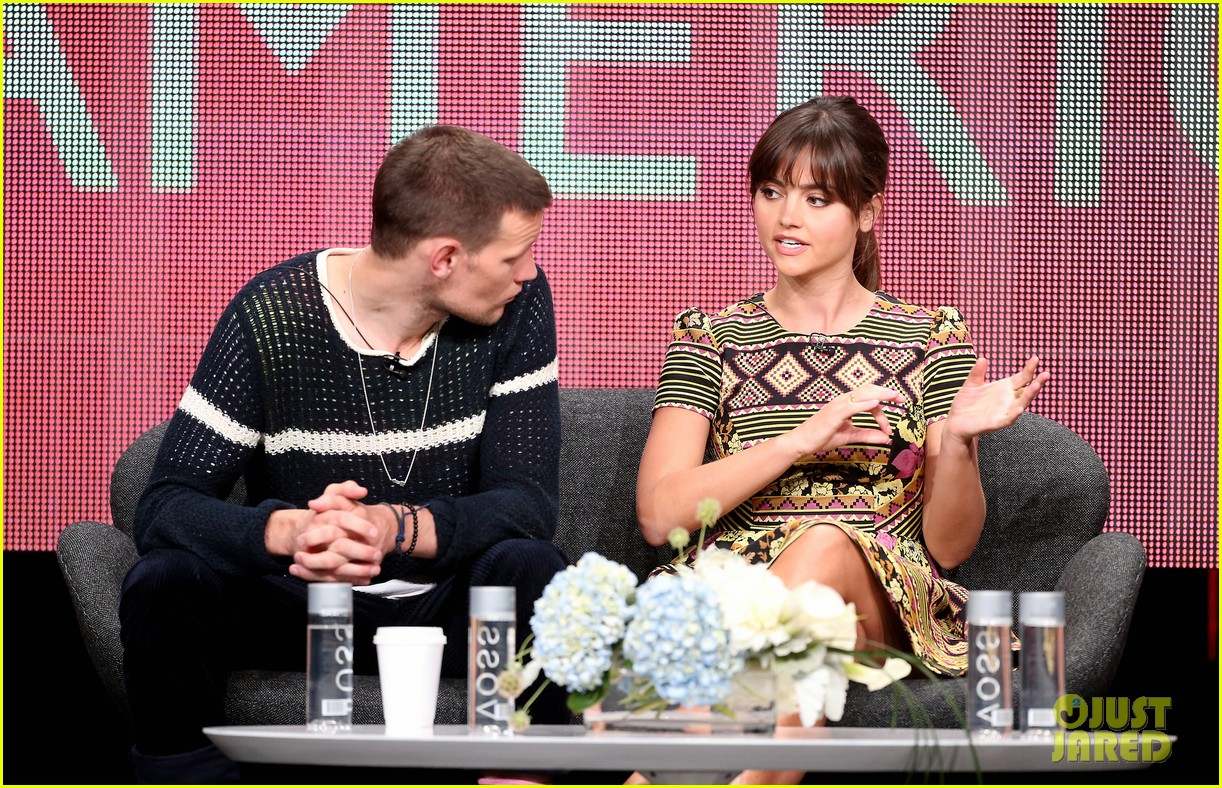 matt smith jenna louise coleman dr who tca panel 122916725