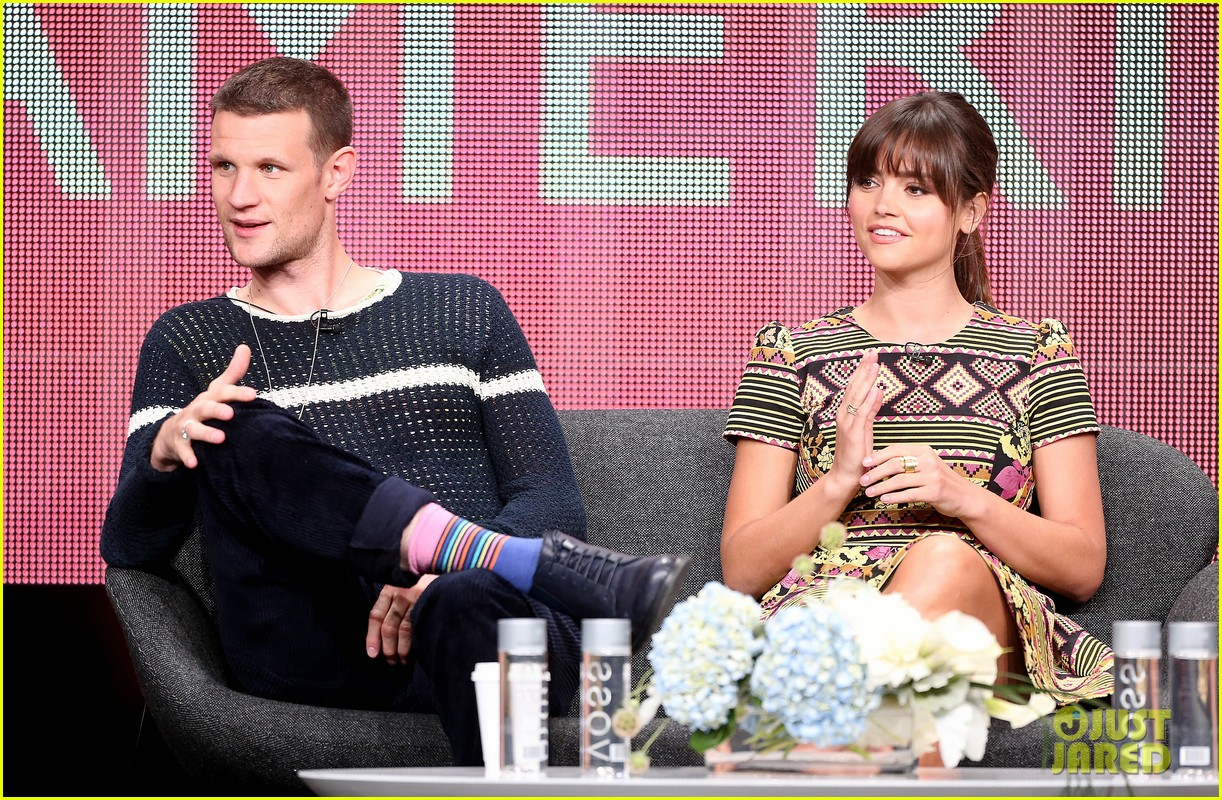 matt smith jenna louise coleman dr who tca panel 132916726
