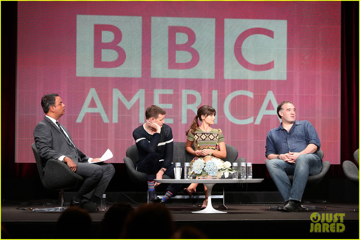 matt smith jenna louise coleman dr who tca panel 172916730