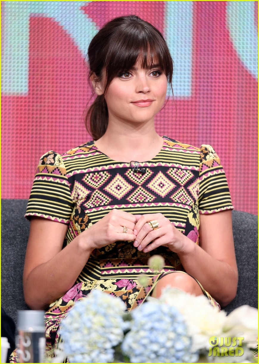 matt smith jenna louise coleman dr who tca panel 212916734