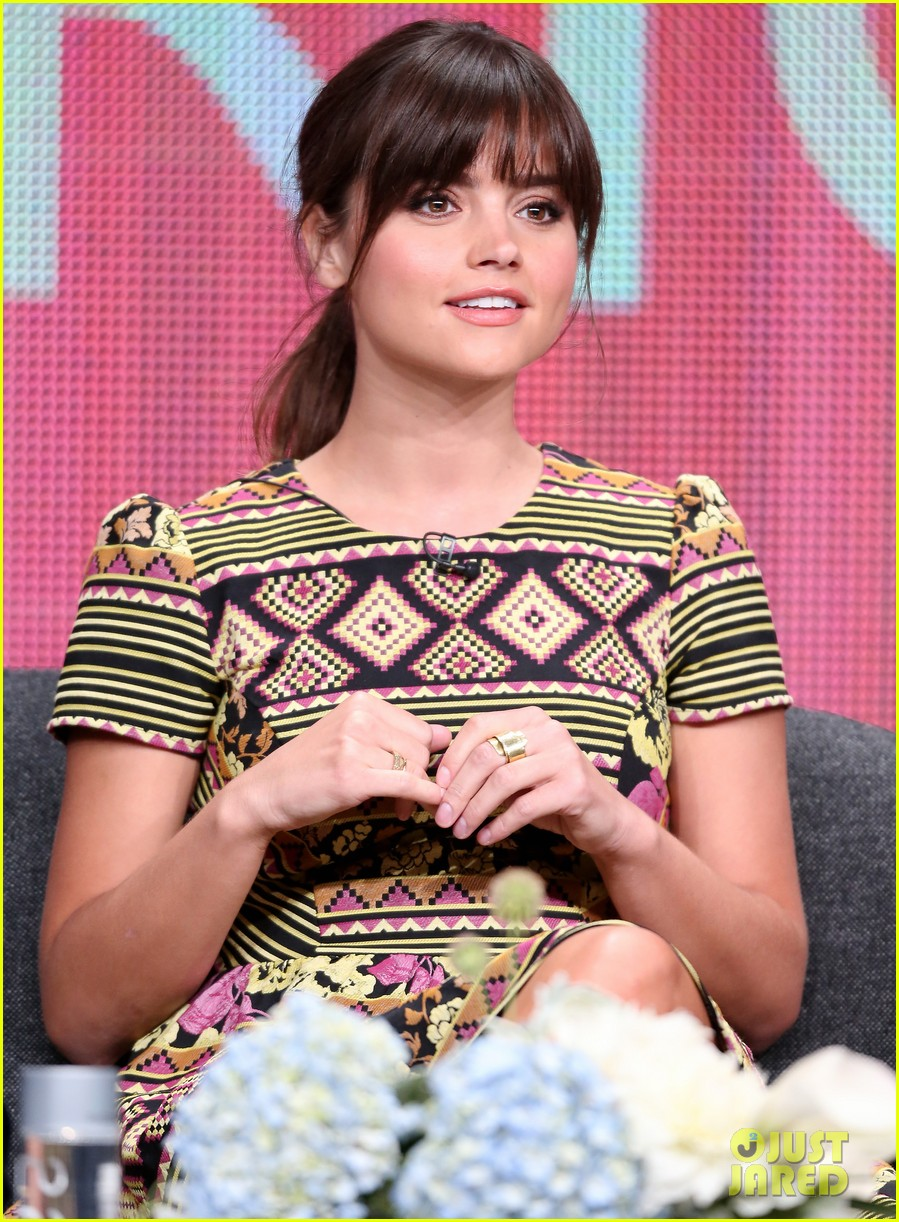 matt smith jenna louise coleman dr who tca panel 232916736