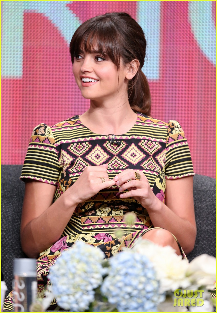 matt smith jenna louise coleman dr who tca panel 242916737
