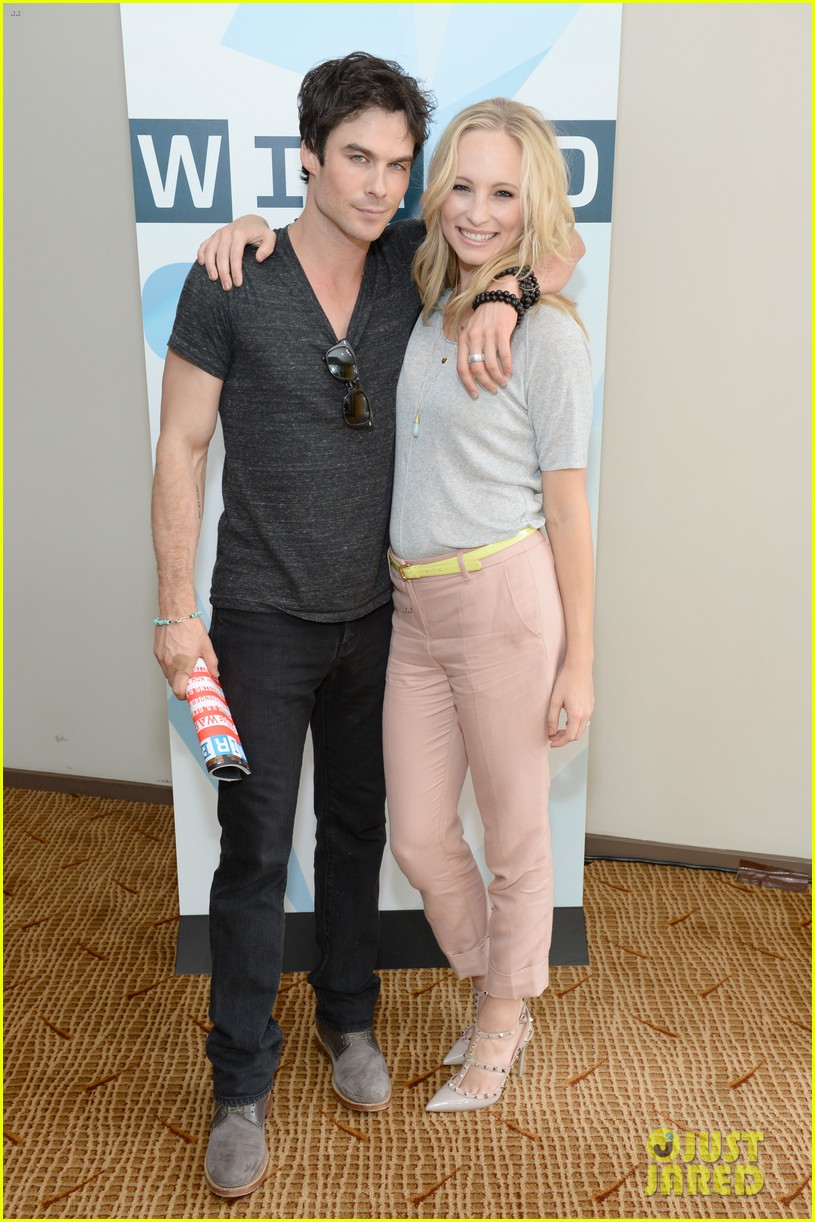 ian somerhalder comic con wired cafe with candice accola 012913260