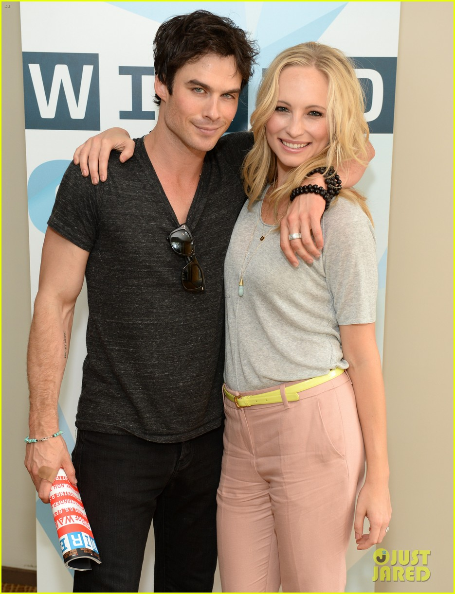 ian somerhalder comic con wired cafe with candice accola 082913267