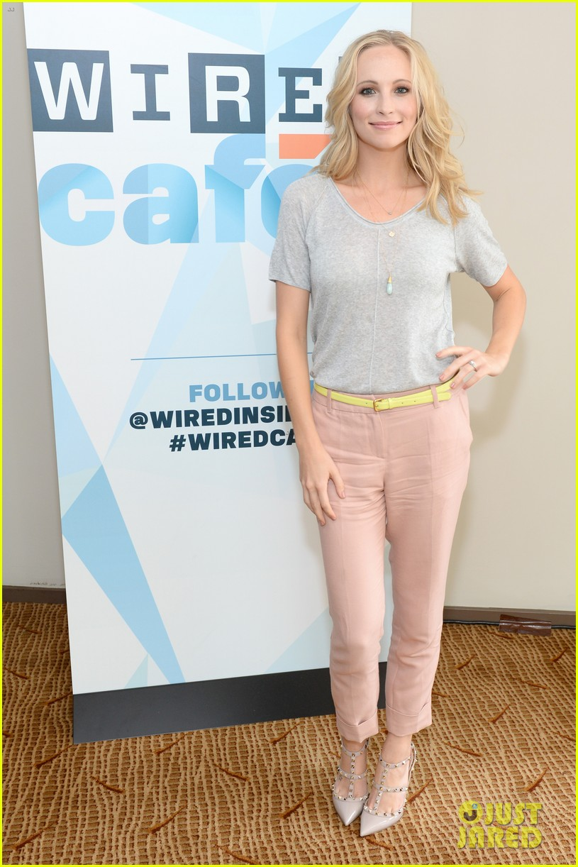 ian somerhalder comic con wired cafe with candice accola 112913270