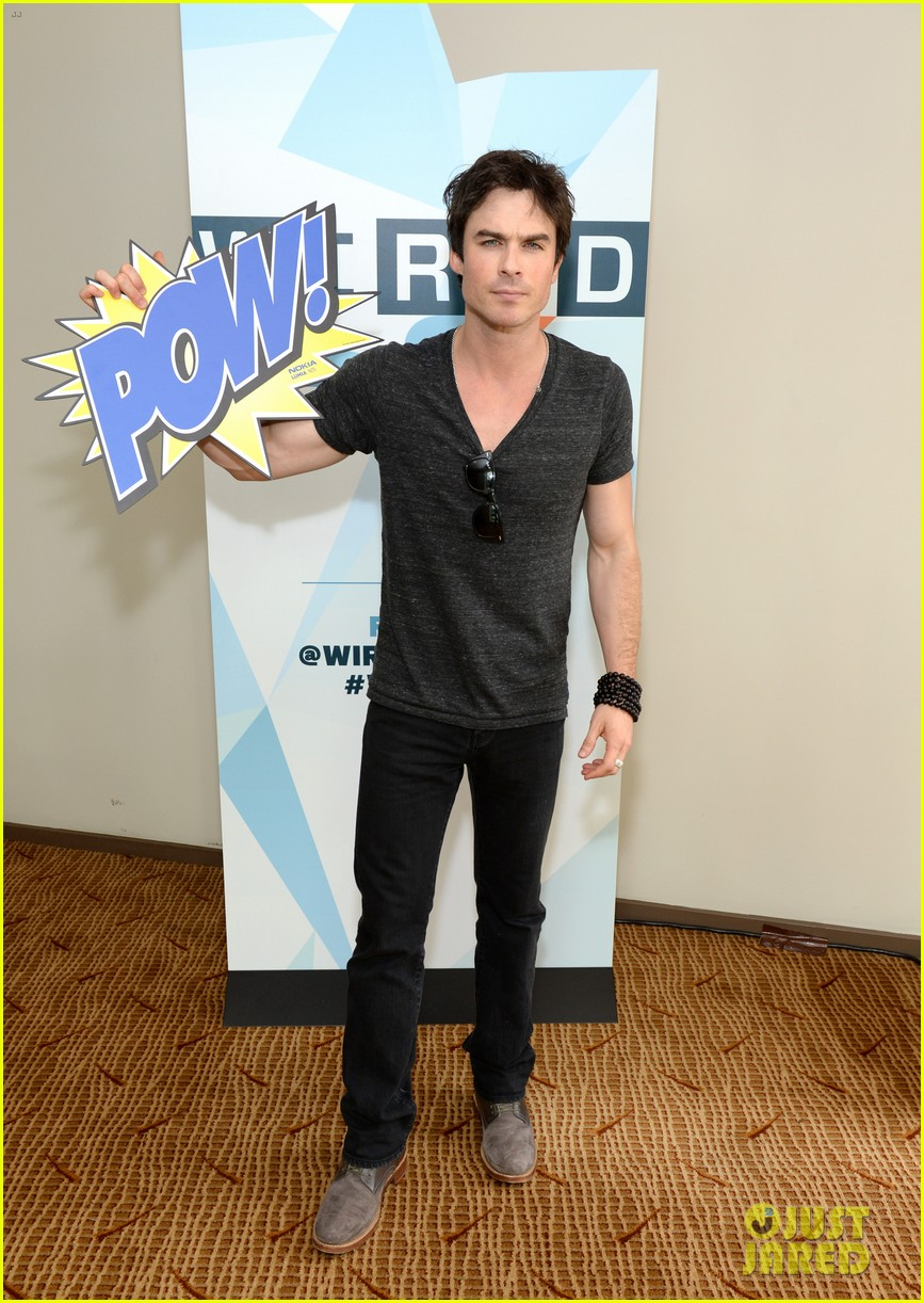 ian somerhalder comic con wired cafe with candice accola 14