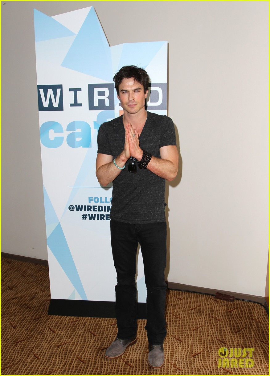 ian somerhalder comic con wired cafe with candice accola 162913275