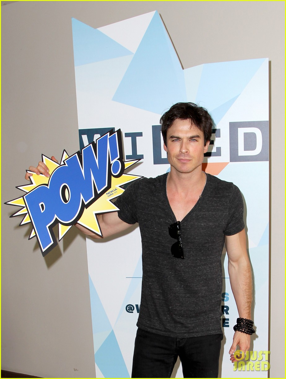 ian somerhalder comic con wired cafe with candice accola 172913276