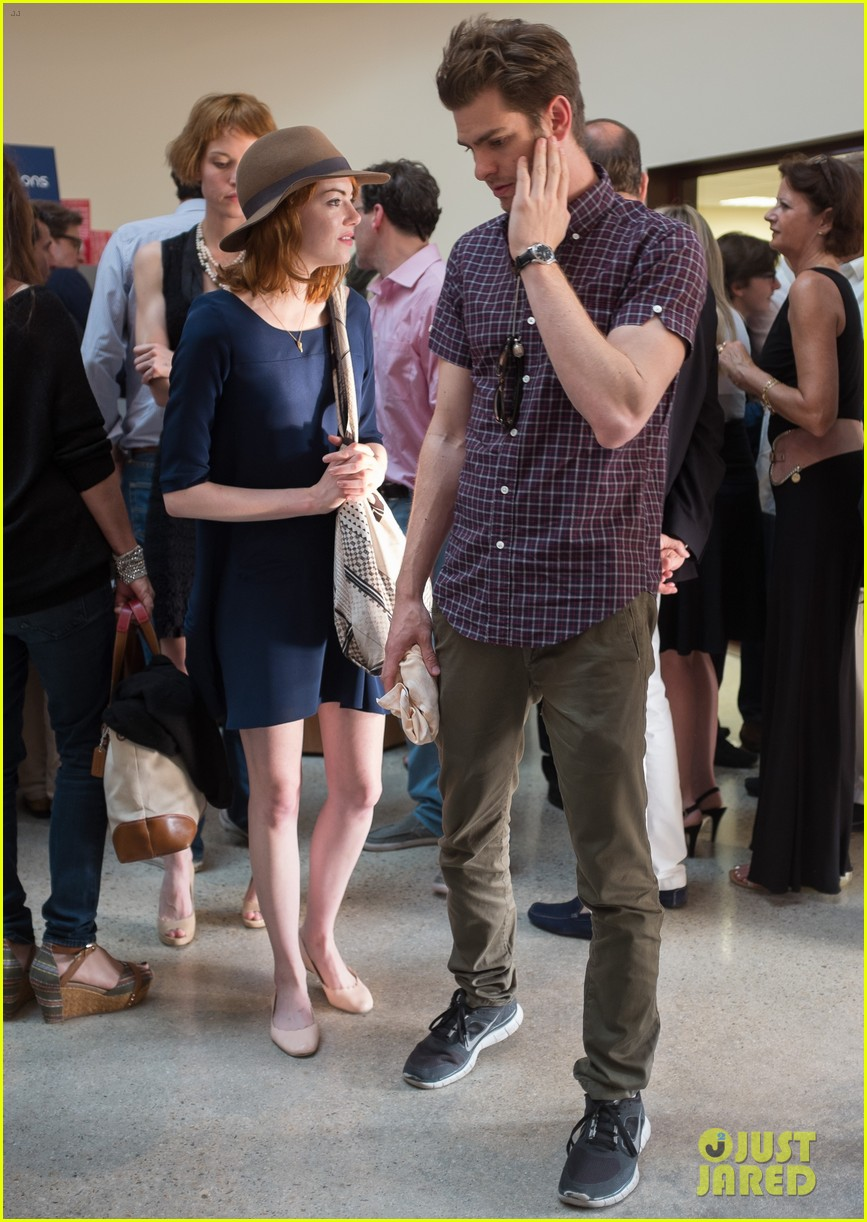 emma stone andrew garfield woody allen concert couple 052914613