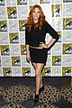 mike vogel rachelle lefevre under the dome at comic con 01