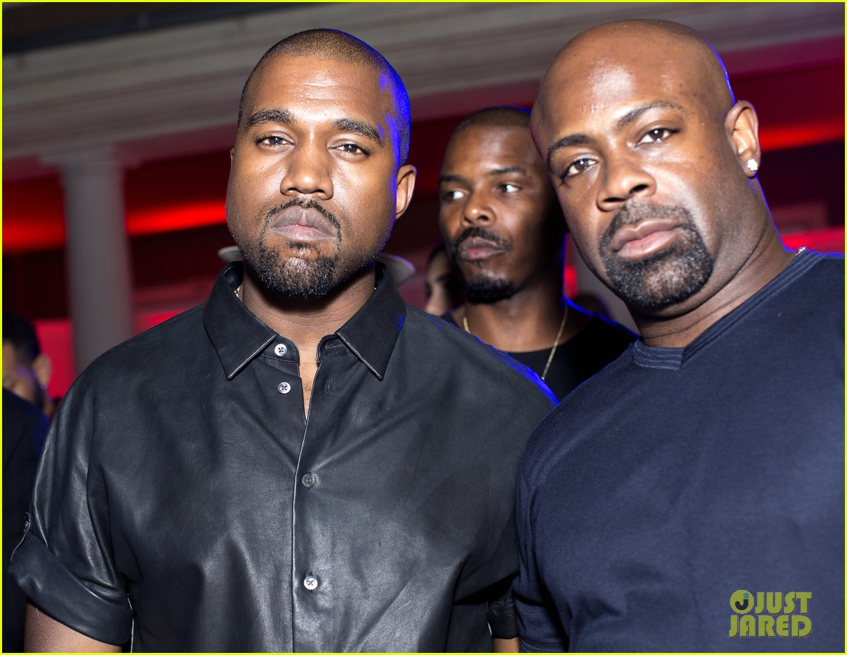 kanye west parties with pals reveals kim kardashian gift 022902107
