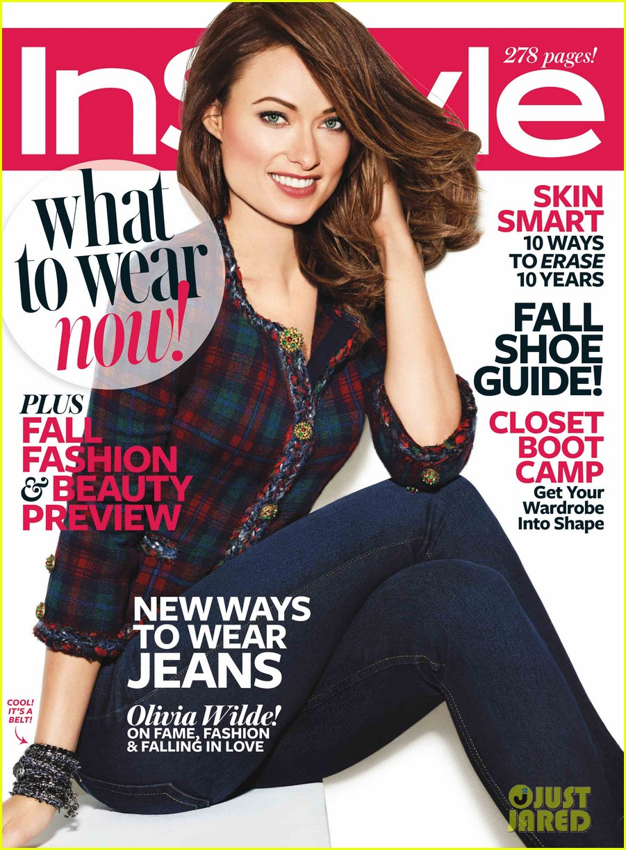 olivia wilde dishes wedding dress details to instyle 012907149