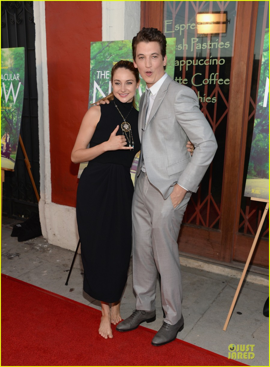 shailene woodley miles teller spectacular now la screening 102920625