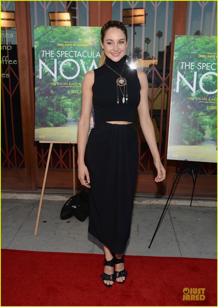 shailene woodley miles teller spectacular now la screening 132920628