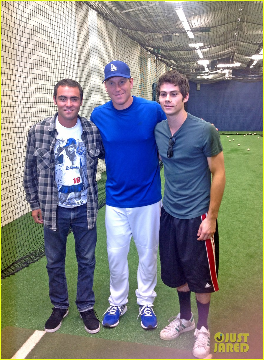 kevin zegers dylan obrien dodgers baseball clinic 042917659