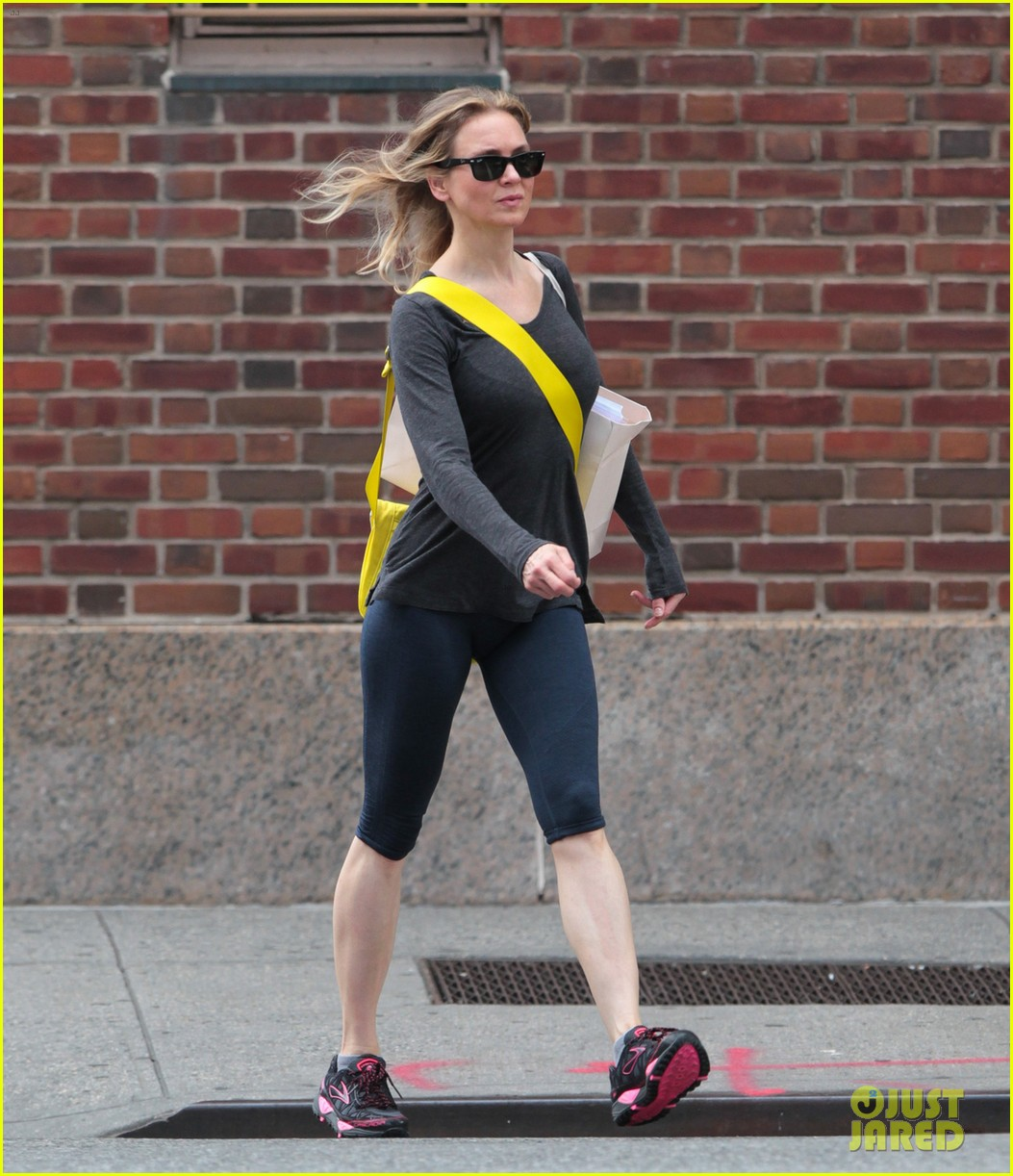 renee zellweger lets her hair down in new york city 012909745