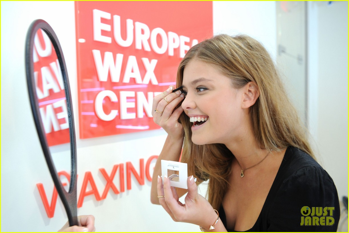 nina adgal tends to her brows at the european wax salon 23
