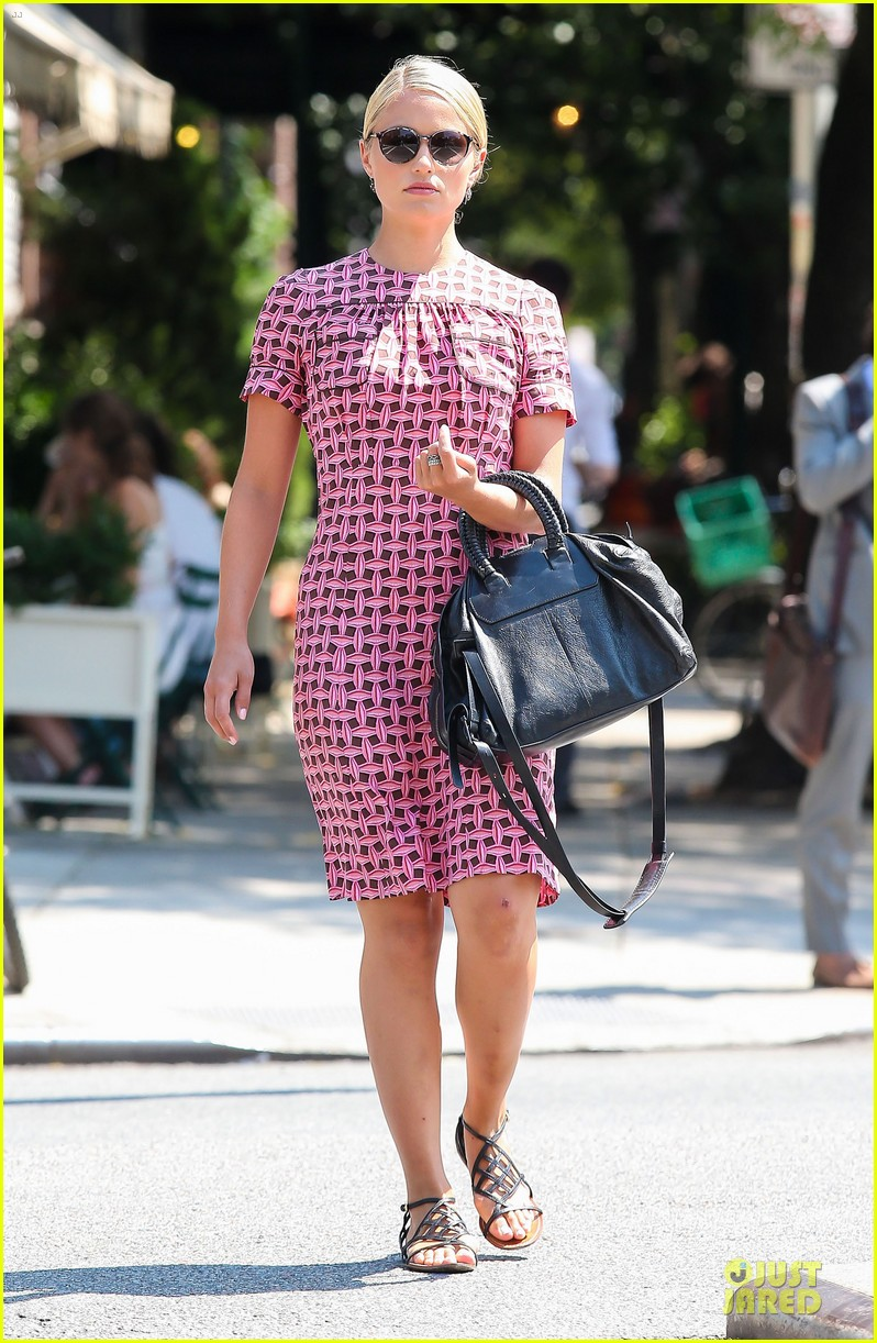 dianna agron repeats cute dress for nyc solo stroll 062939193