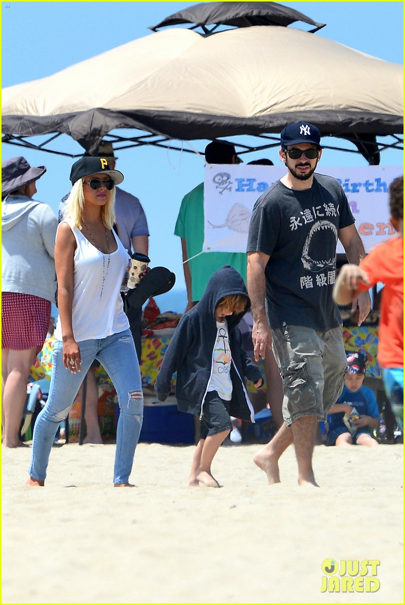 christina aguilera hits the beach with jordan bratman max 242928727