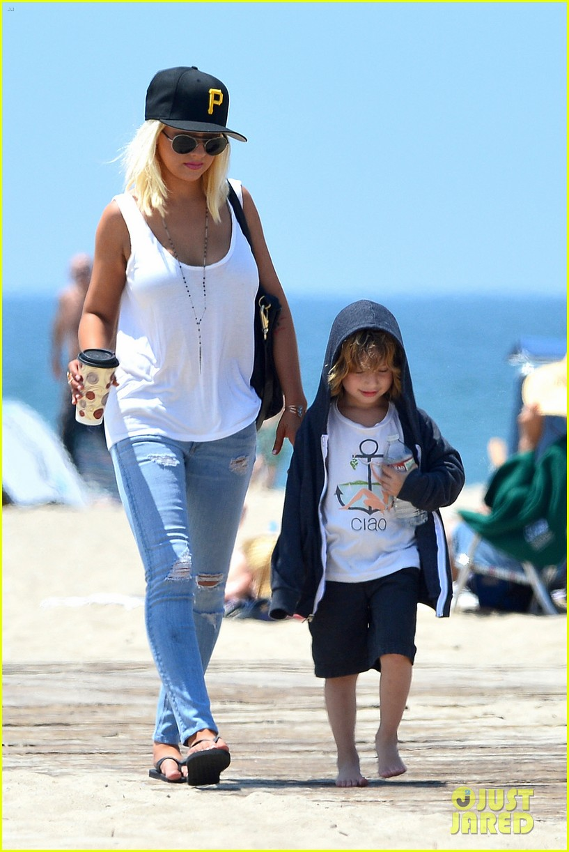 christina aguilera hits the beach with jordan bratman max 292928732