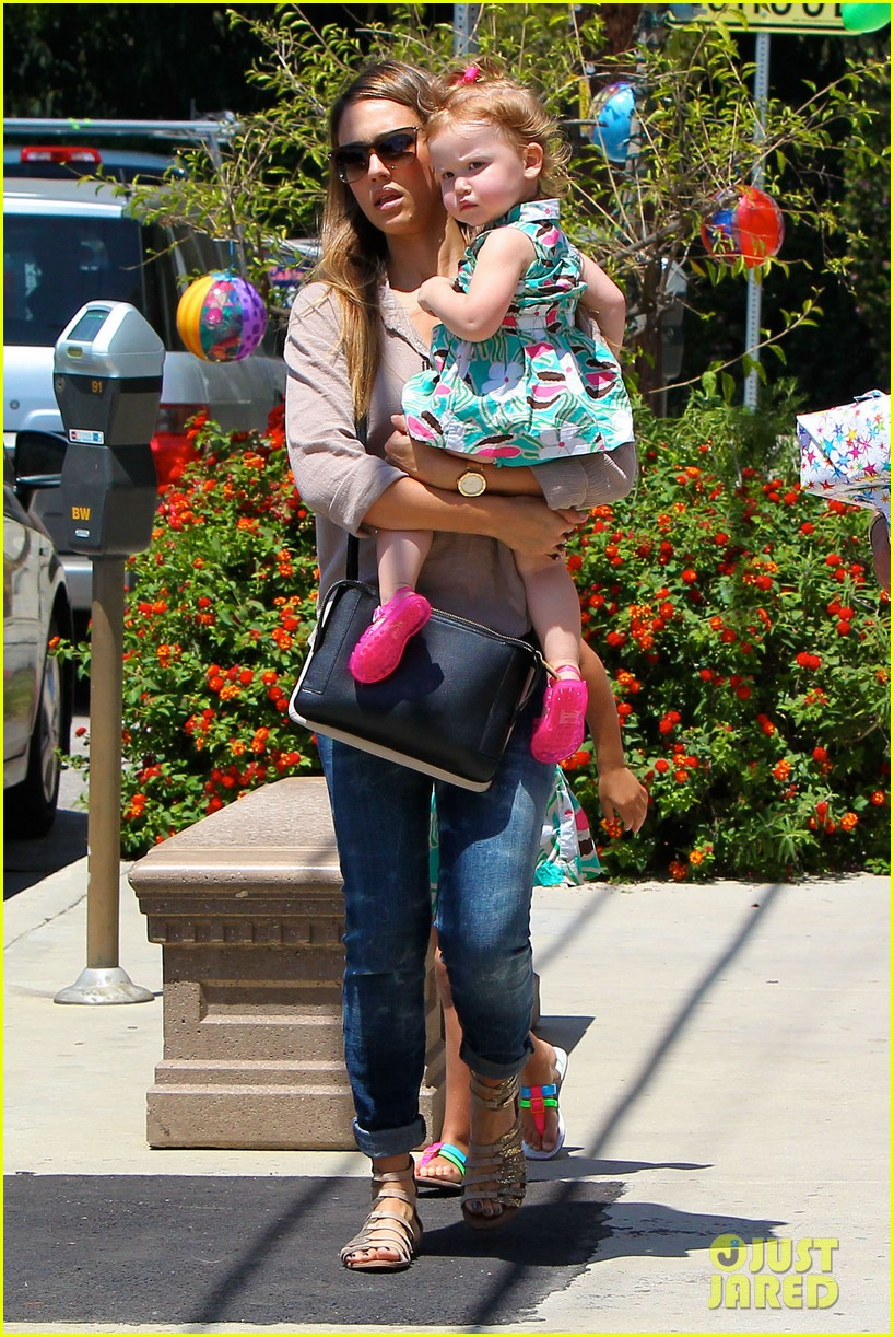 jessica alba honor haven wear matching outfits 092923177