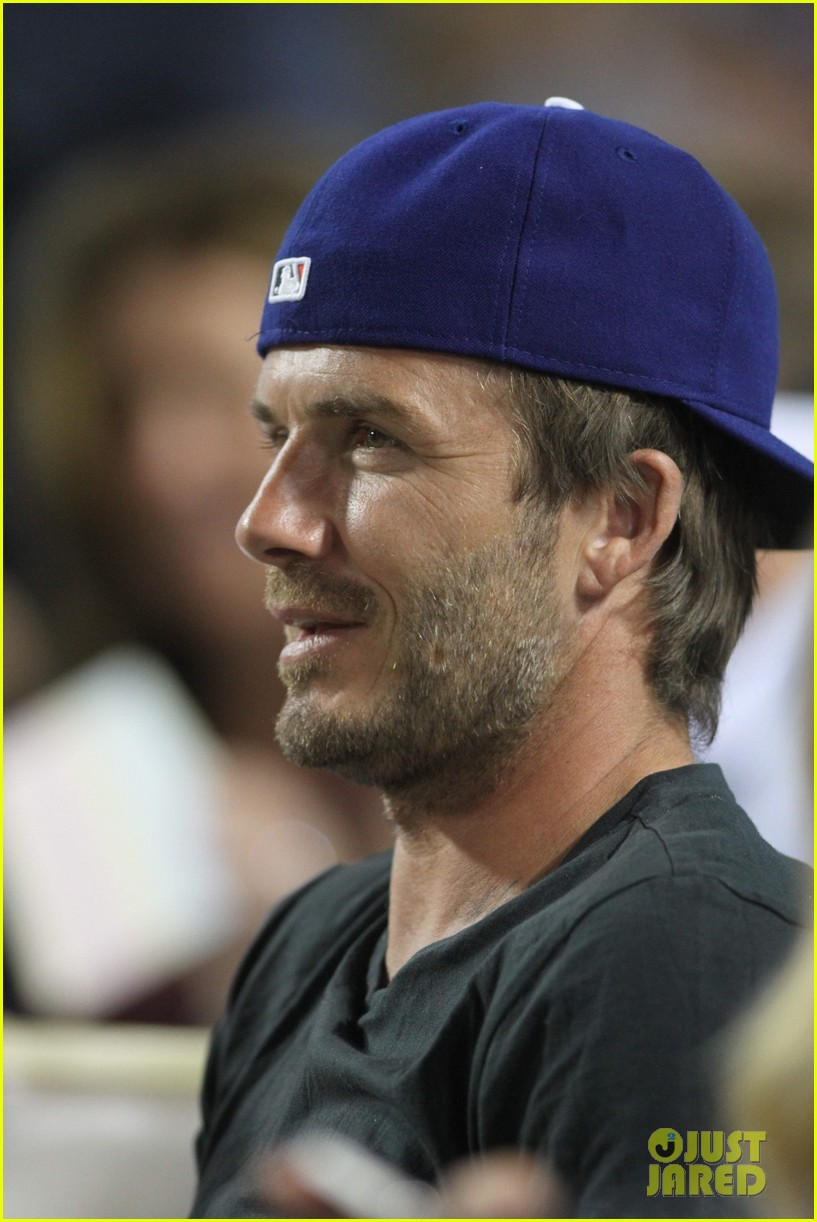 David Beckham Amp Harper Daddy Daughter Baseball Game