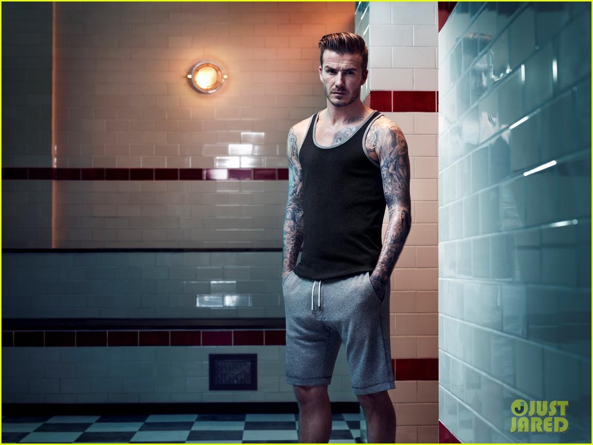 david beckham shirtless hm campaign pictures 012934852