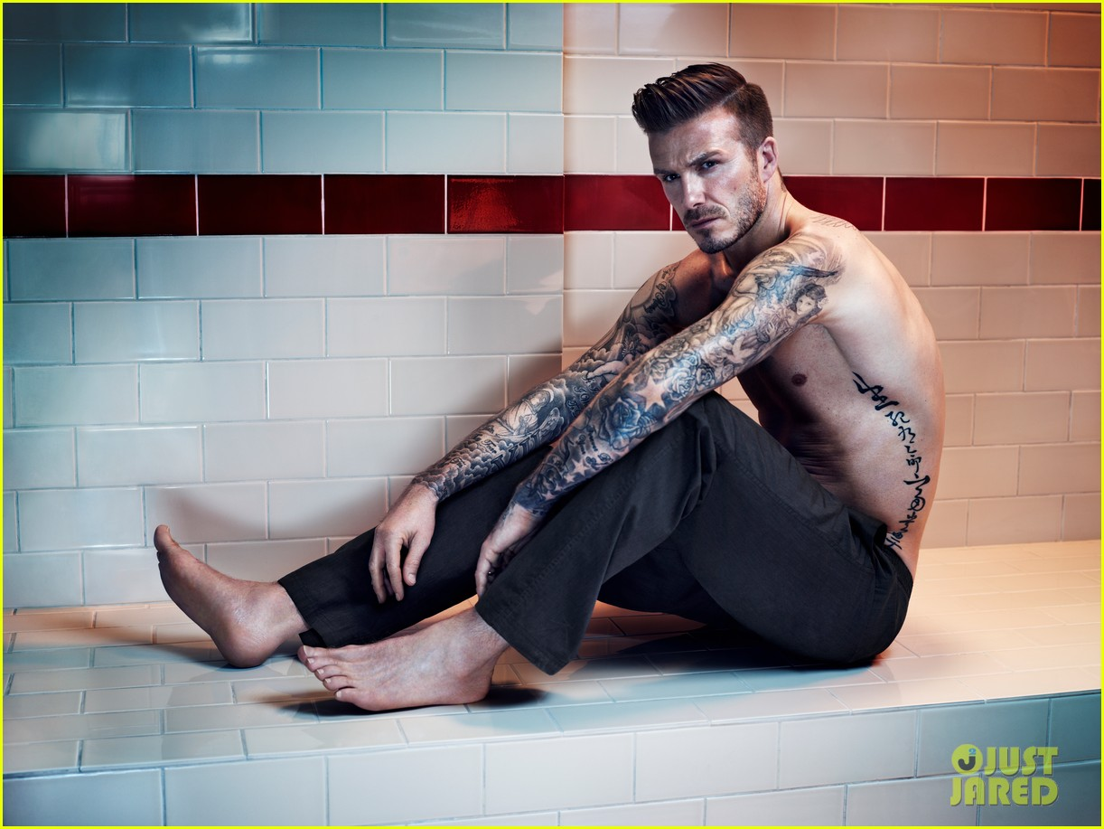 david beckham shirtless hm campaign pictures 042934855