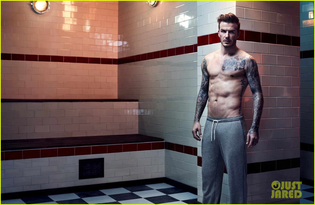 david beckham shirtless hm campaign pictures 052934856