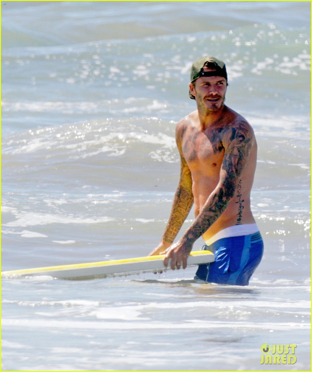 david beckham shirtless surfing with the boys 052940356