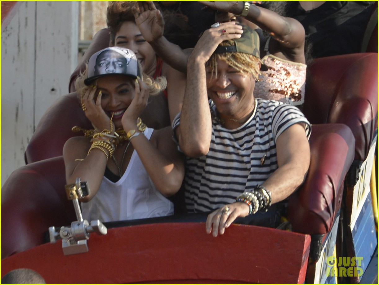 beyonce coney island cyclone rider for music video shoot 022940310