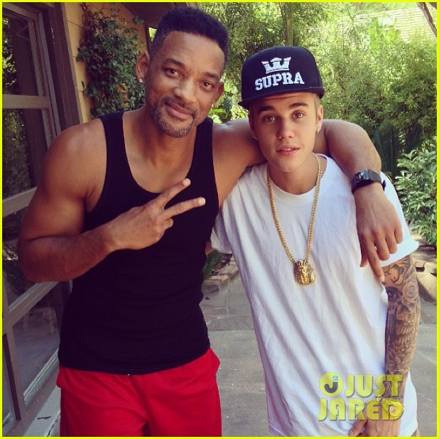 justin bieber hangs with his uncle will smith 022933077