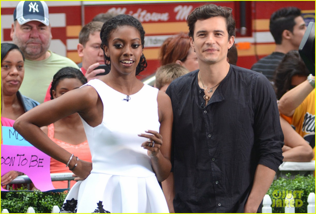 orlando bloom condola rashad romeo juliet promo on gma 032935500