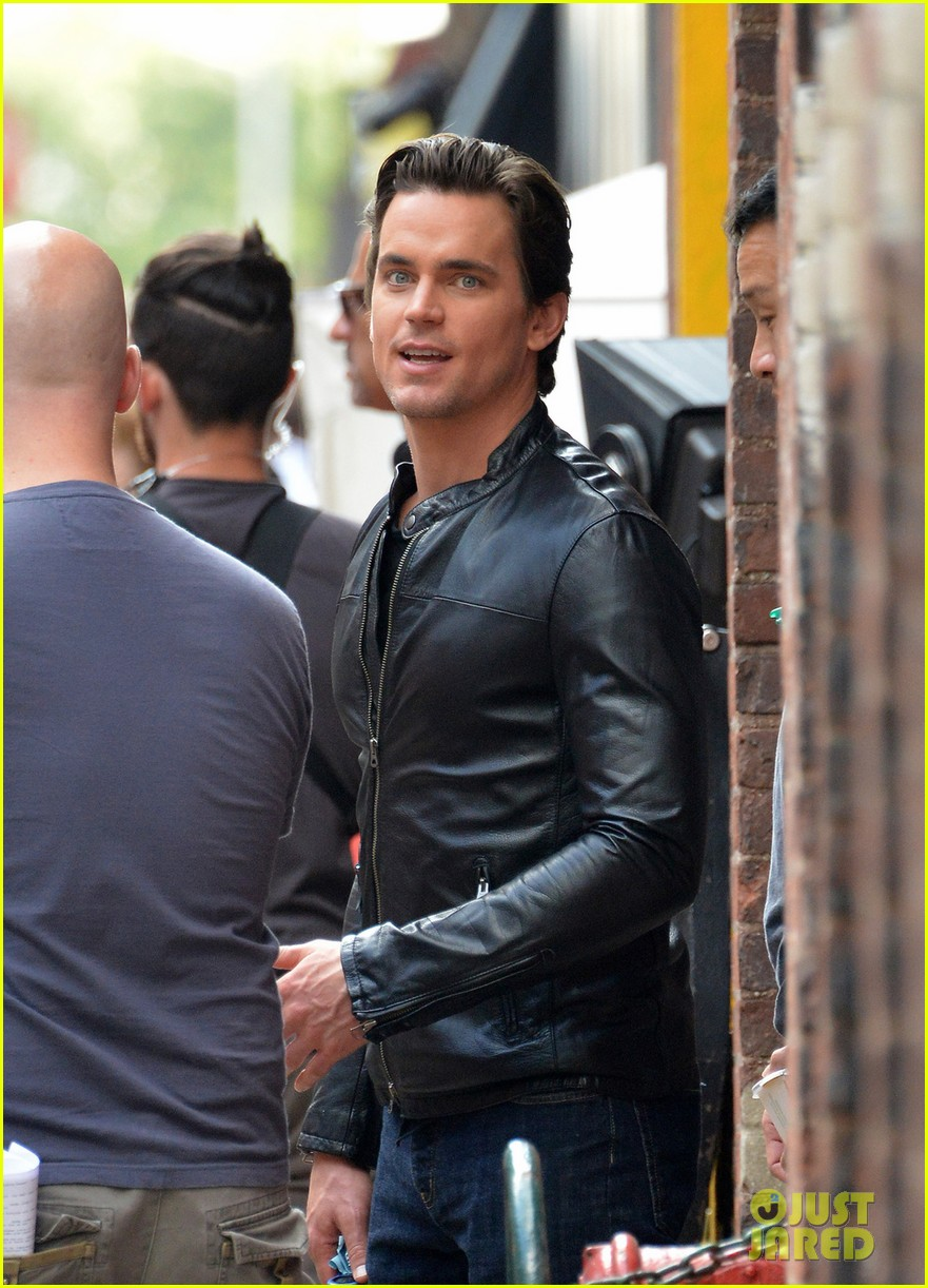 matt bomer fitted leather jacket for white collar 012924850