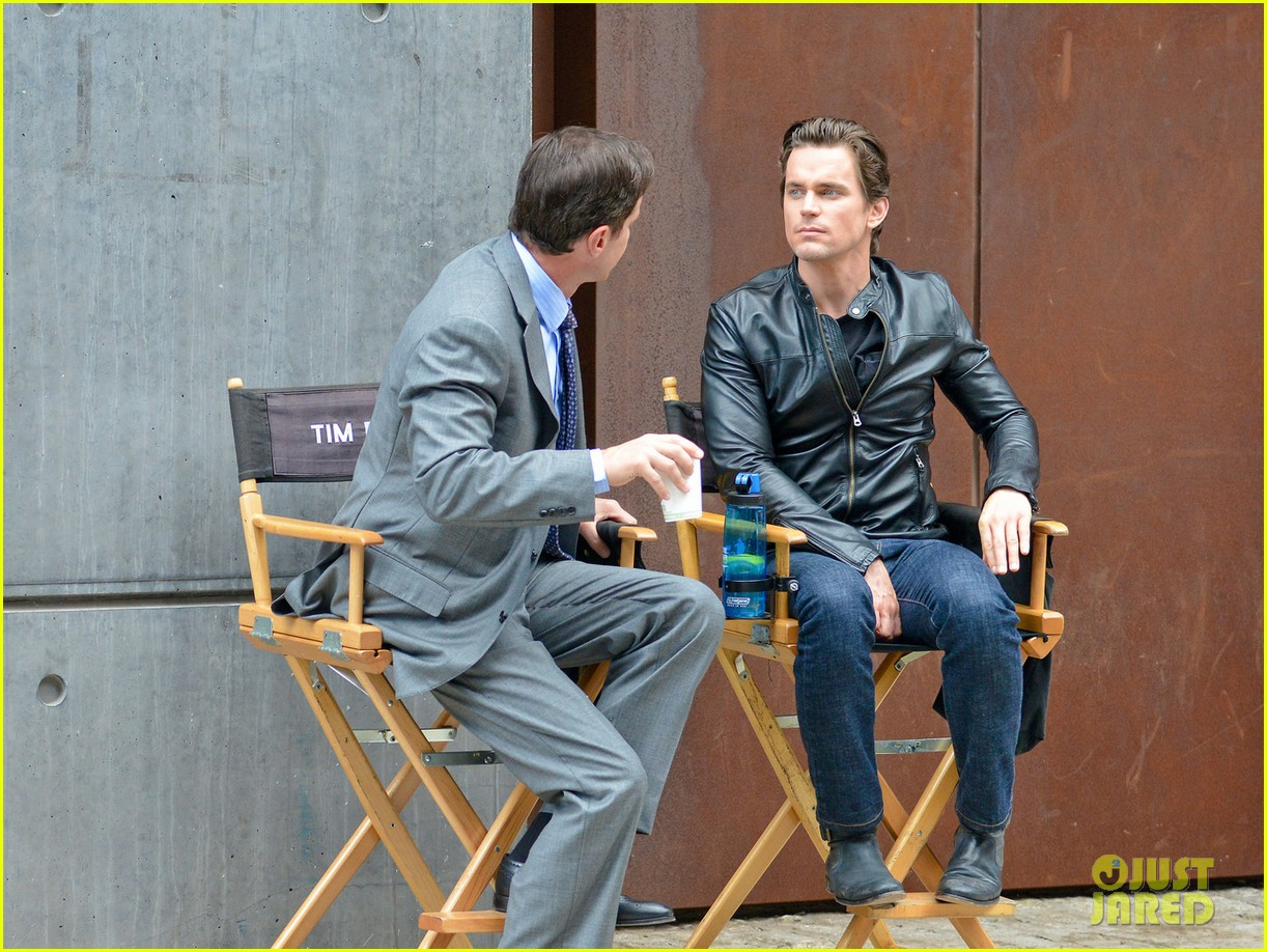 matt bomer fitted leather jacket for white collar 022924851