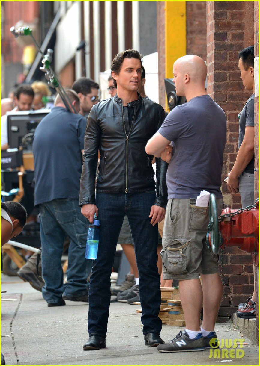 matt bomer fitted leather jacket for white collar 032924852