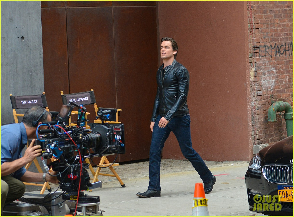 matt bomer fitted leather jacket for white collar 042924853