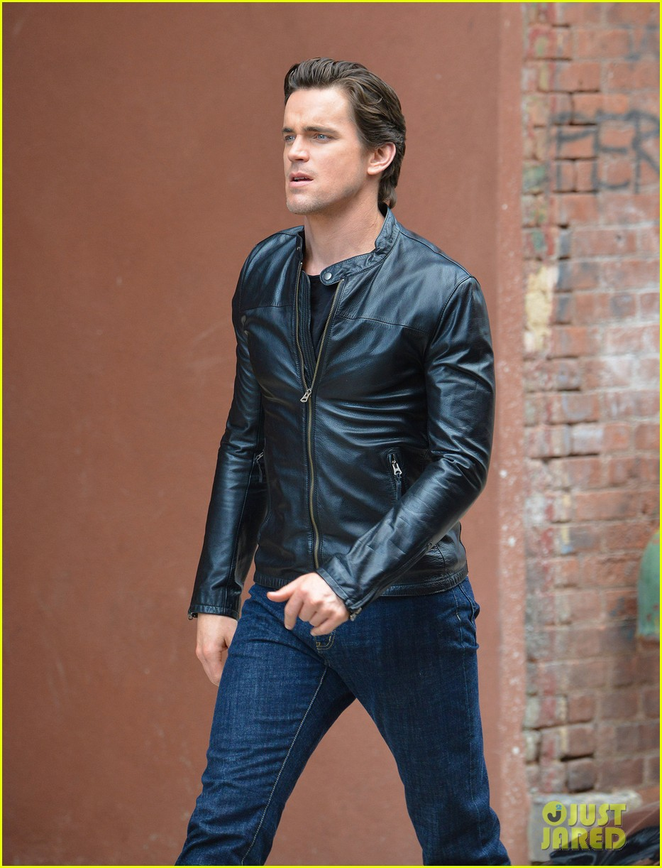 matt bomer fitted leather jacket for white collar 052924854