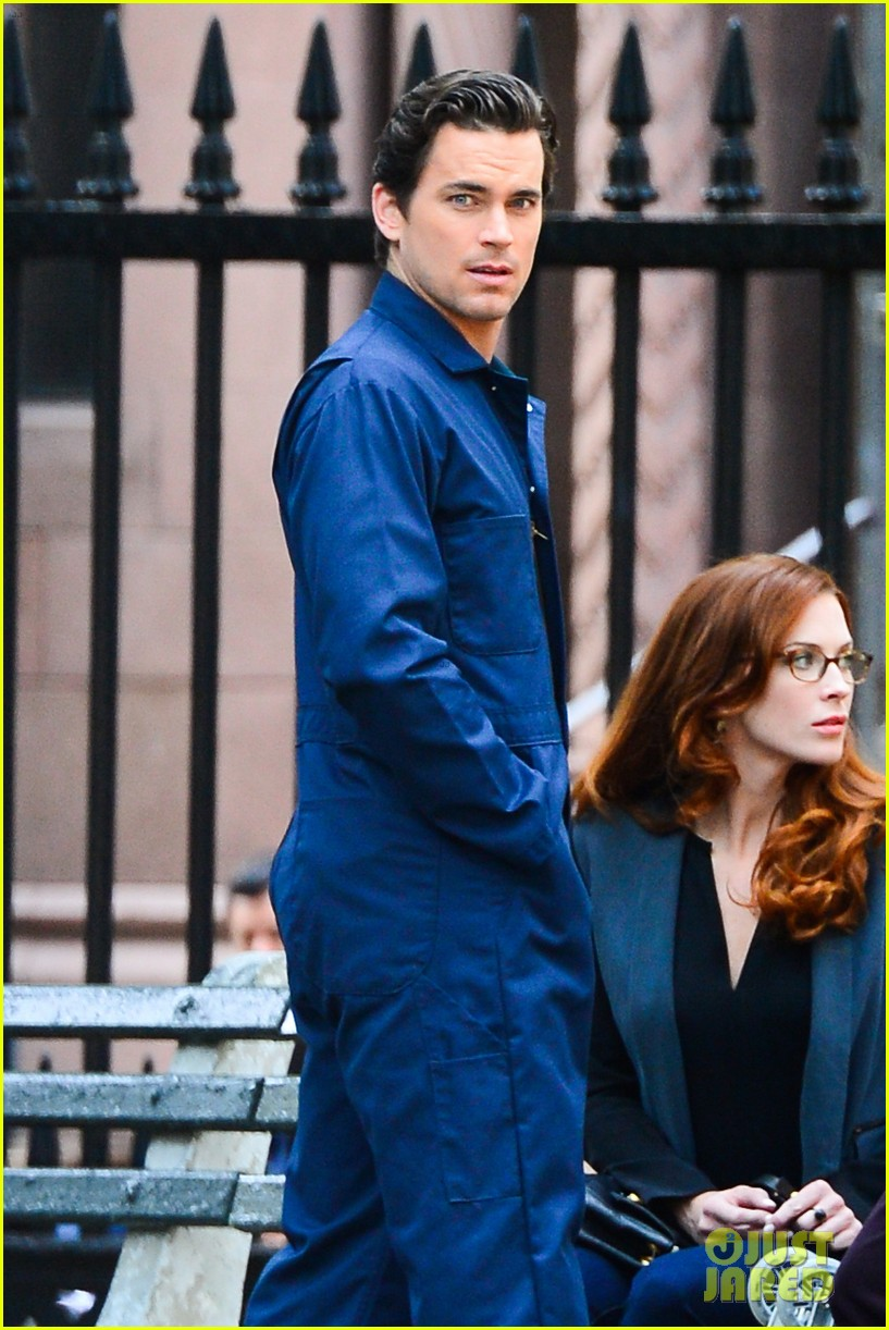matt bomer wears jumpsuit plays with puppy 082930917