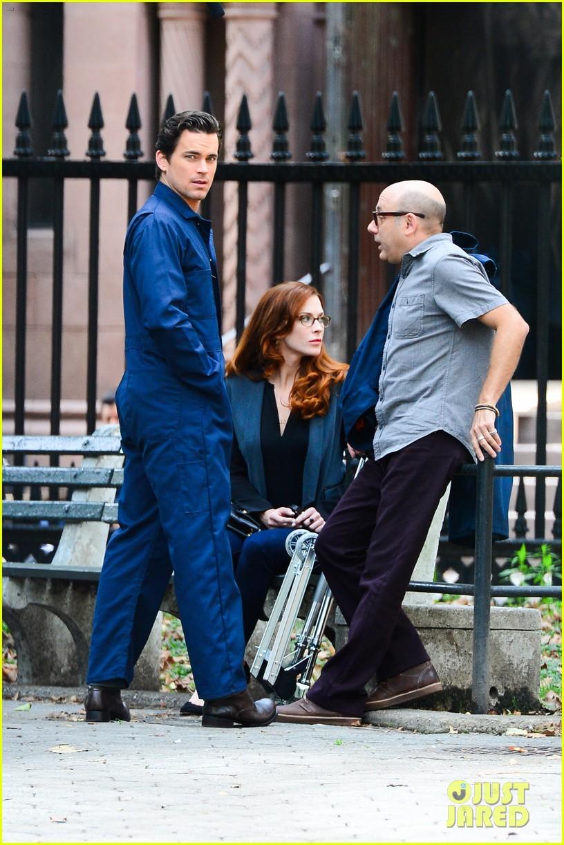 matt bomer wears jumpsuit plays with puppy 132930922