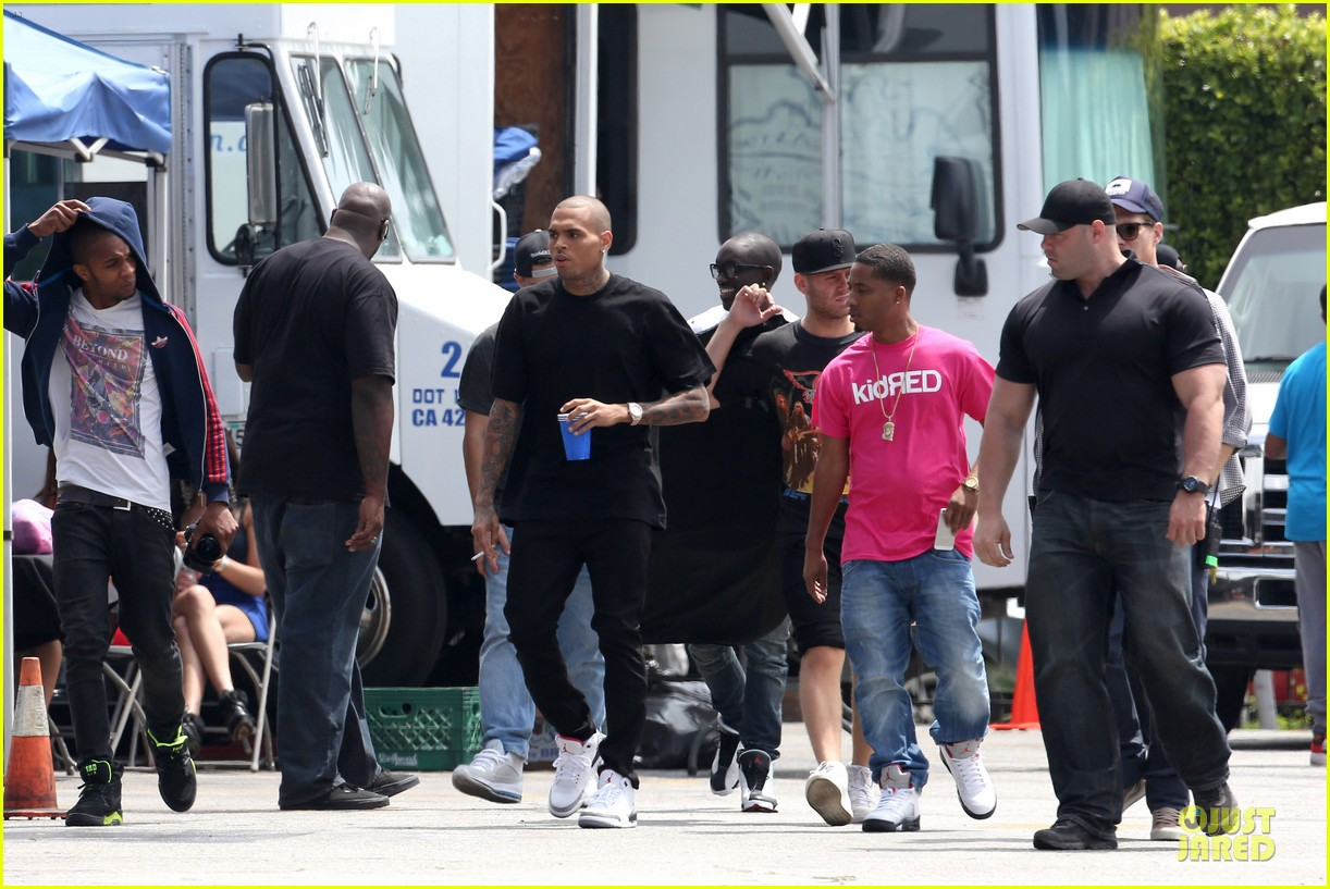 chris brown shoots love more music video 052922570