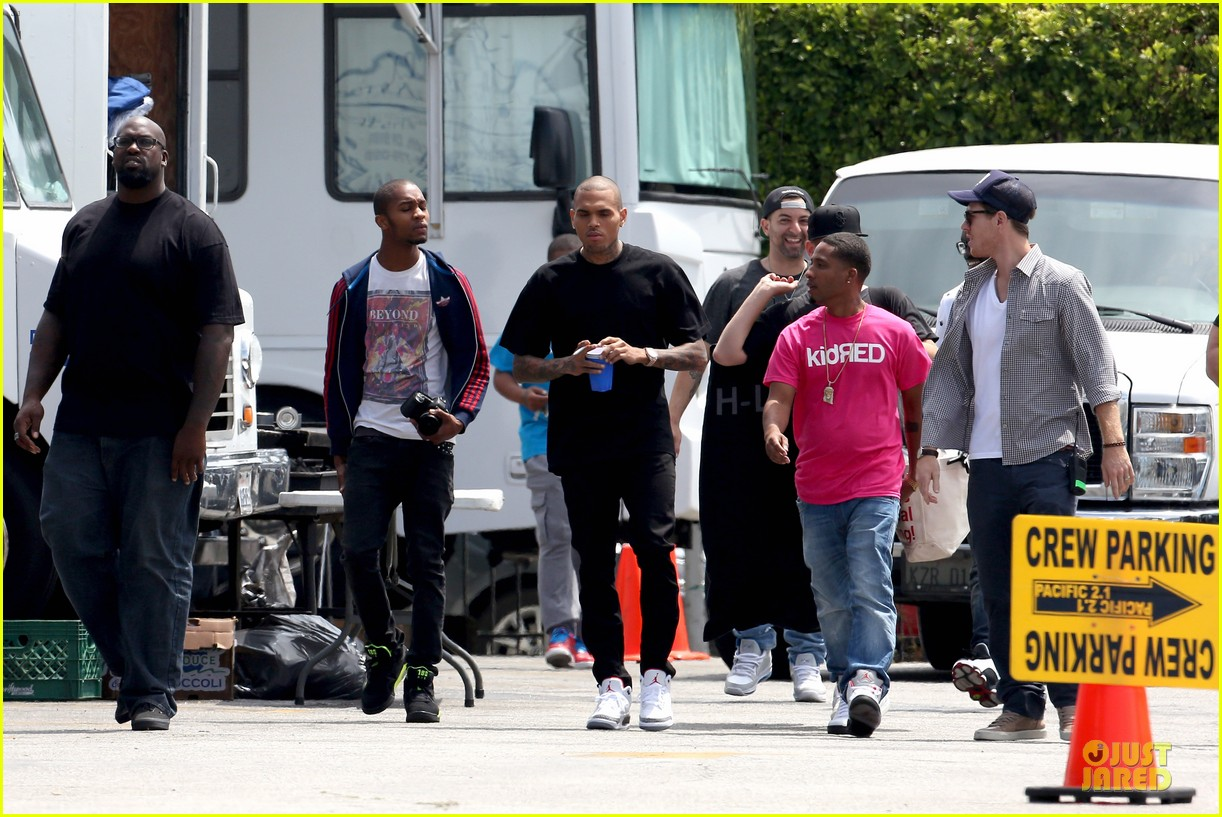 chris brown shoots love more music video 212922586