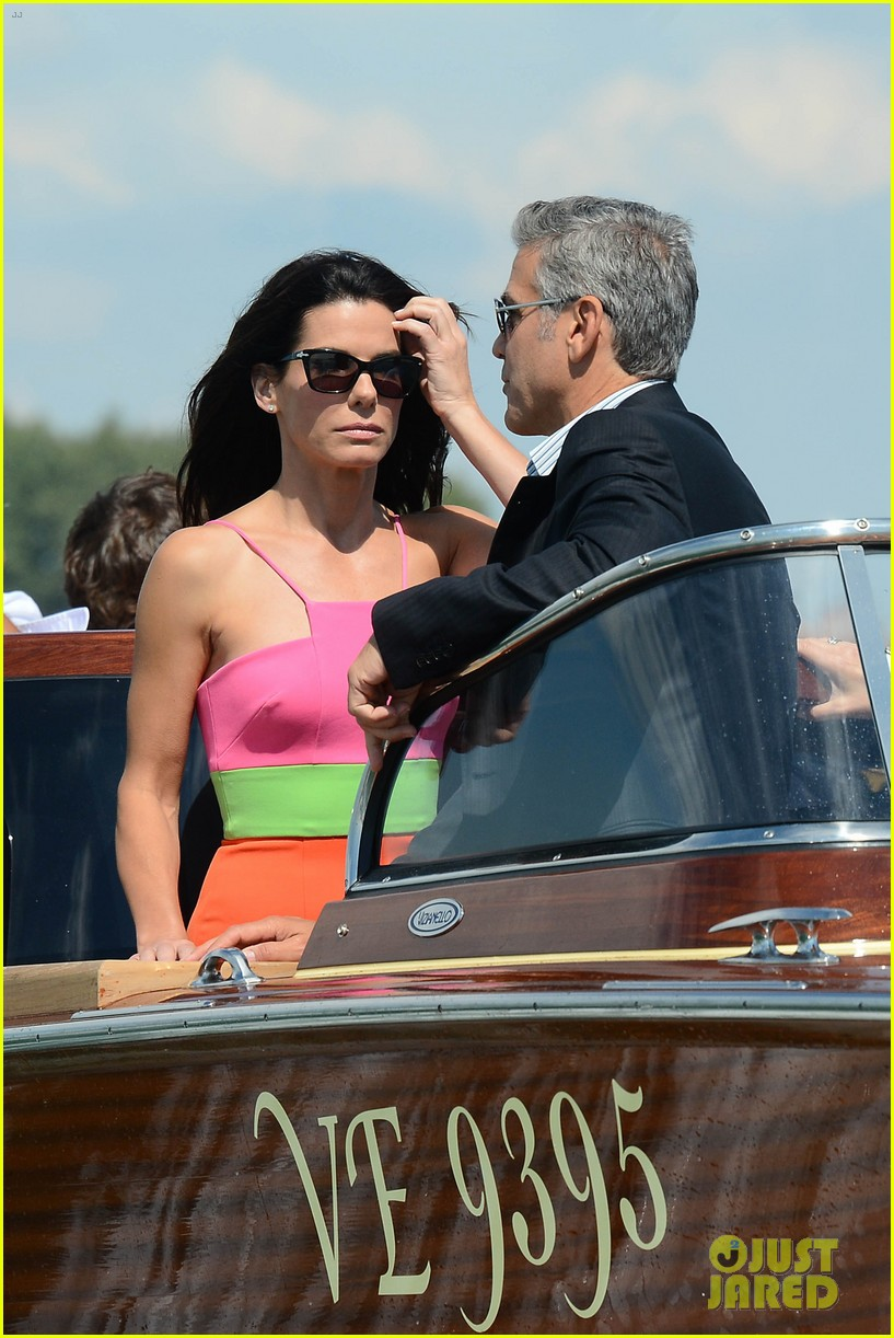 sandra bullock george clooney gravity venice photo call 012939306