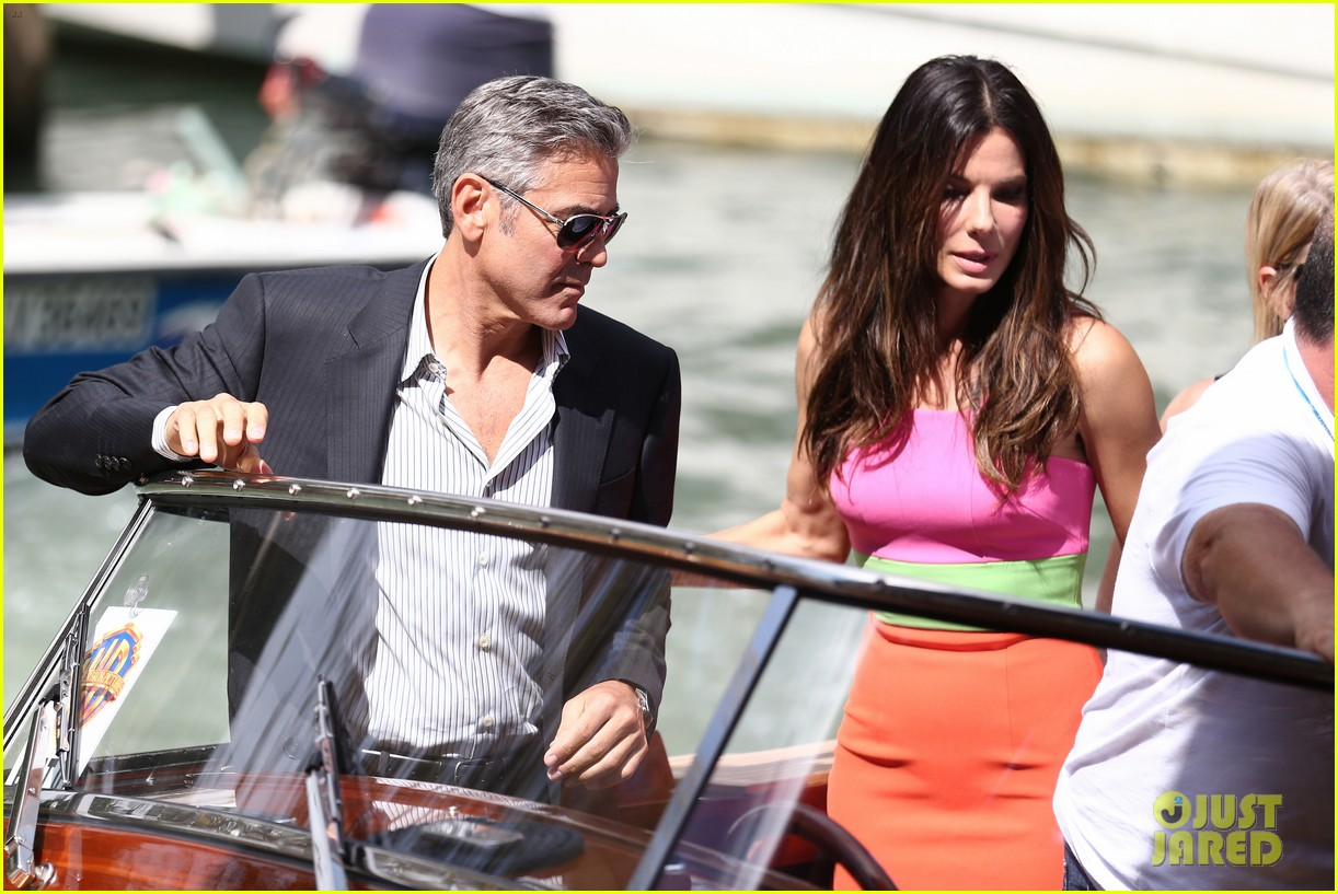 sandra bullock george clooney gravity venice photo call 042939309