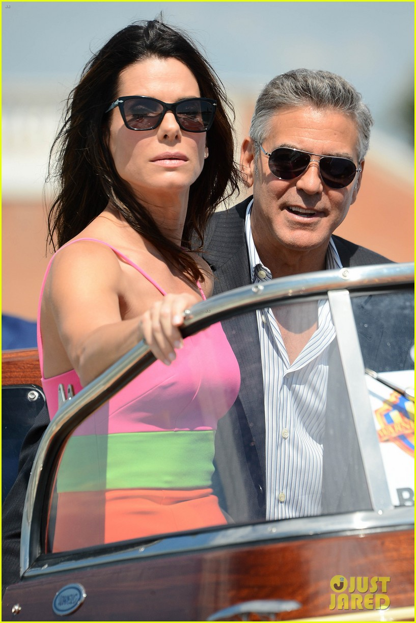 sandra bullock george clooney gravity venice photo call 152939320