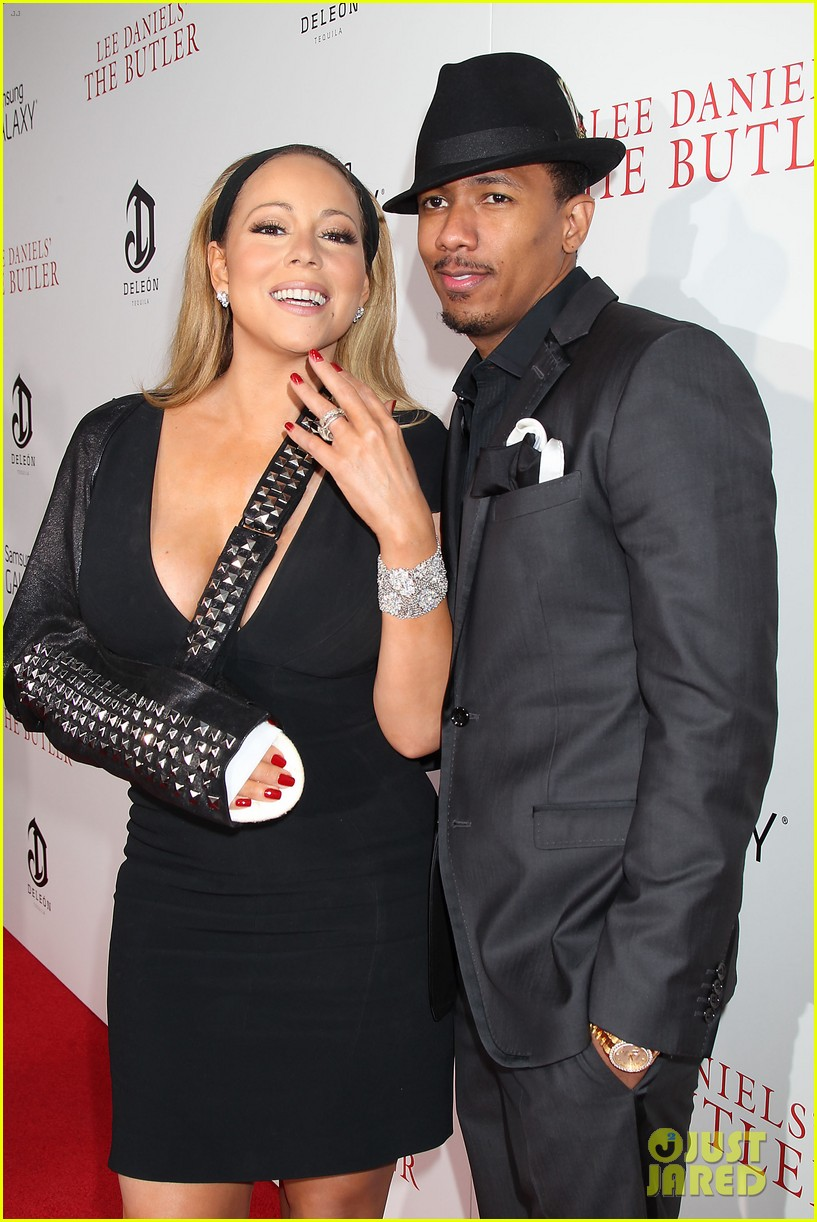 mariah carey wears arm sling to butler new york premiere 122924348