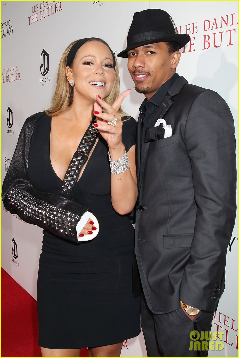 mariah carey wears arm sling to butler new york premiere 132924349
