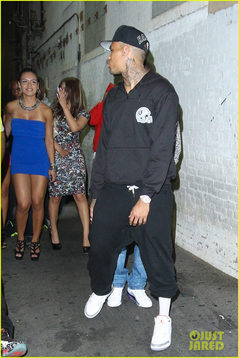 chris brown night out following love more video shoot 072923379